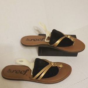 Reef flip flop slides women's size 10